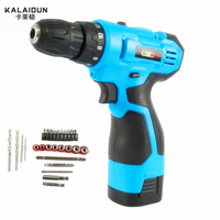 25V Multifunction Rechargeable Lithium Battery Torque Electric Drill Bit Cordless Electric Screwdriver Hand Wrench Tool Set