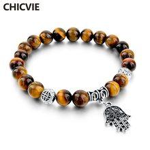 Chicvie винтажные браслеты с натуральным камнем и подвесками