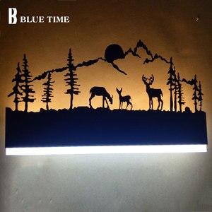 Image 2 - 110v 220v ledウォールライト黒壁ランプ燭台リビングルームベッドサイドルームの寝室のランプ壁燭台ミラーライト壁