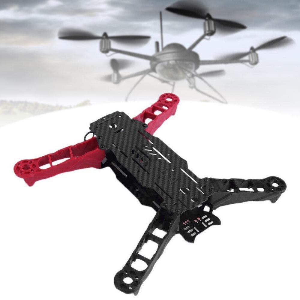 Малый 250 мм Колесная база 4 оси углеродного Волокно Quadcopter Рамки комплект красный и черный