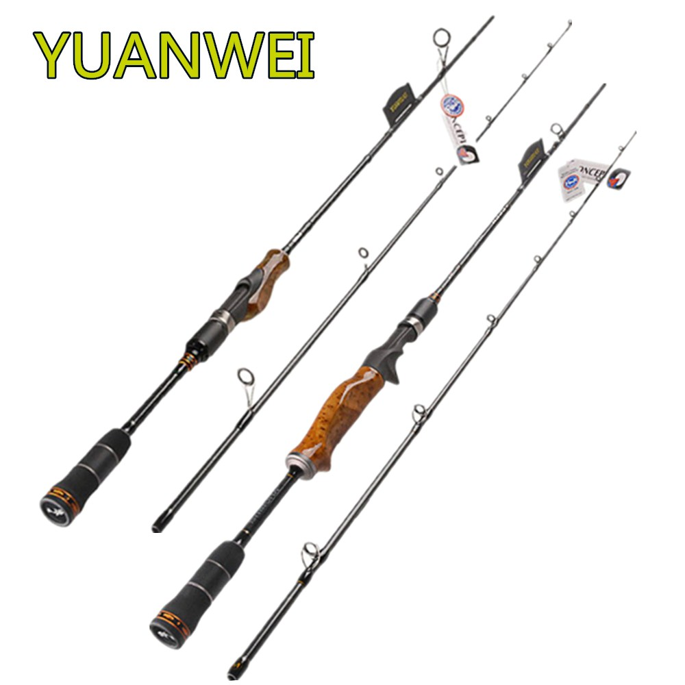 YUANWEI 2.4 m Spinning ou Fundição Pesca Rod 2 Seções Guia FUJI e Reelseat M Poder Vara De Pesca Vara De vara Isca Vara de Pesca