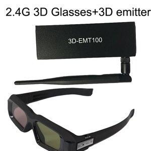 2.4G 3D Glasses+Projector RF 2