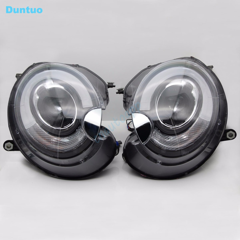 LED Car Headlight Hi/Lo Beam Auto Lens DRL HID D1 Projector headlight Turn Signal Light For 2005-2012 MINI ClubMa R55 R56 Cooper hireno headlamp for 2016 hyundai elantra headlight assembly led drl angel lens double beam hid xenon 2pcs