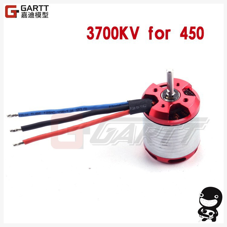 GARTT 3700KV 330W Brushless Motor RC Helicopter Parts For 450 Align Trex RC Helicopter freeshipping hf 530kv 4500w brushless motor with steel case for 700 align trex rc helicopter