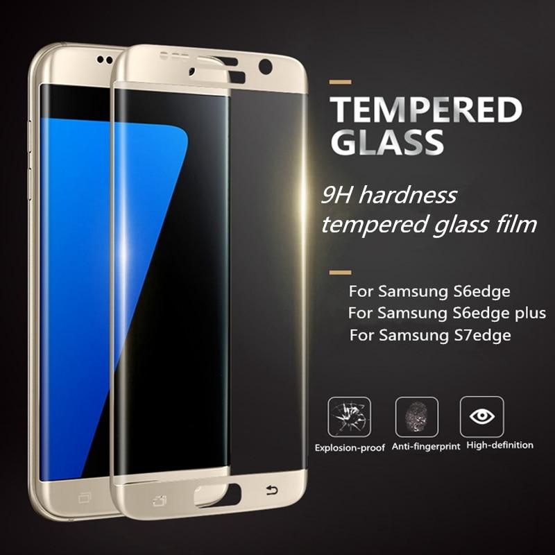 imágenes para 10 unids Vidrio Templado Protector de Pantalla de La Cubierta Completa 3D teléfono case Para Samsung Galaxy S6 S7 borde Borde más Protectora película