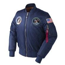 Veste de vol surdimensionnée chaude pour hommes, hiver Apollo, 100e MISSION spatiale MA1, bombardier, hip hop US