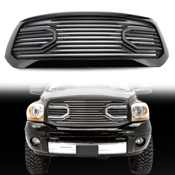 Areyourshop ビッグホーン黒パッケージ化されたグリル + シェル交換ラム 1500 2013-2018 フロントグリルシェル車の部品