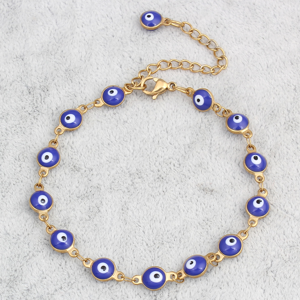 YYW Hot Ethic Punk Evil Eye Jewelry Bracelet Bangles Gold color