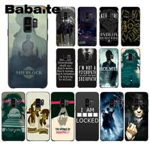 Babaite 221B Sherlock Holmes Coque Shell akcesoria do telefonów etui do Samsung Galaxy S4 S5 S6 S7 S8 S9 S8 plus(China)