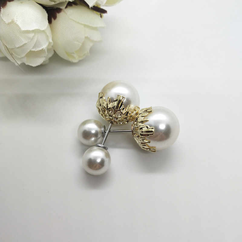 Fashion big/small Double pearls Brooches Classic Charm High Quality Accessories Womans/Girls Imitation Pearl pins All-match 1pcs