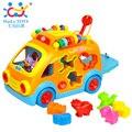 Veículo educacional toys huile 988 aprendizagem inovadora elétrica car toys para bebês brinquedos bebe frete grátis feliz bus toys