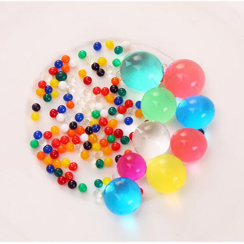 Crystal Soil Water Bead Hydrogel Gel Polymer Seeds Flow Mud Grow Ball Beads Growing Bulbs Children