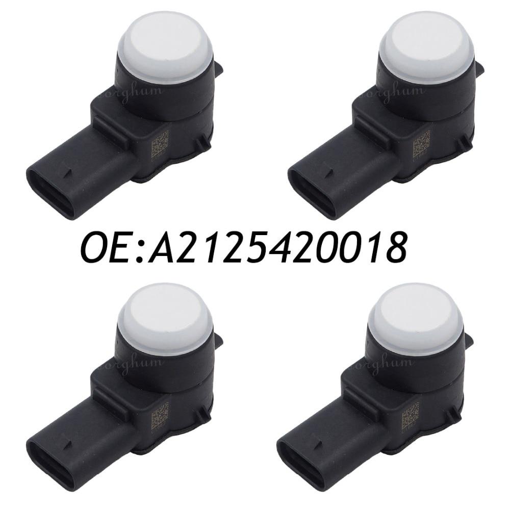 Parking Sensors 4pcs Pdc Parking Sensor For Mercedes-benz W169 W245 W204 W212 A2125420018 0263023184 Jade White
