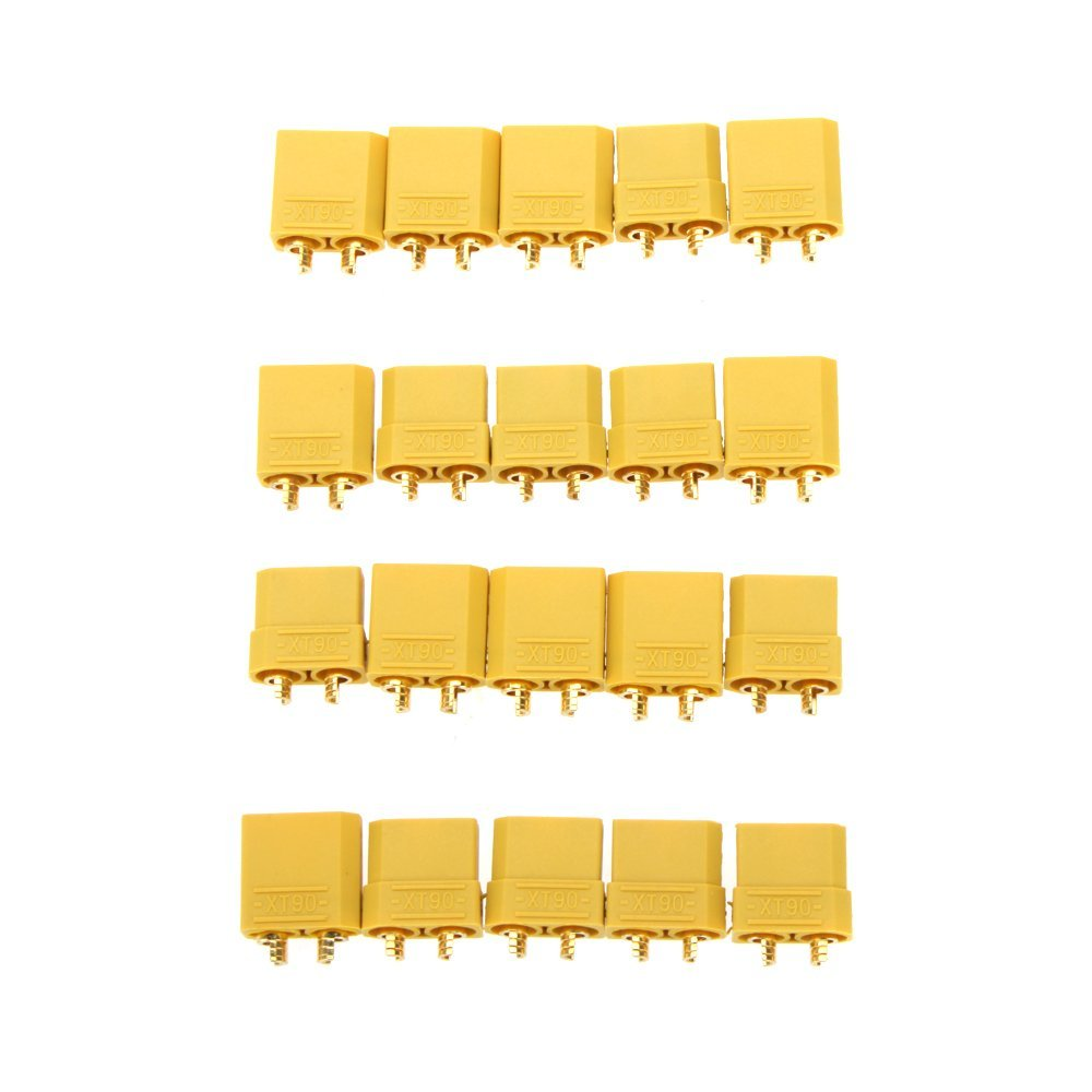 10 Pairs XT90 Battery Connector Set 4.5mm Male Female Gold Plated Banana Plug броши sokolov 794025 s