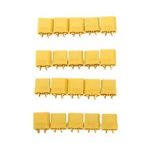 10 Pairs XT90 Battery Connector Set 4 5mm Male Female Gold Plated Banana Plug