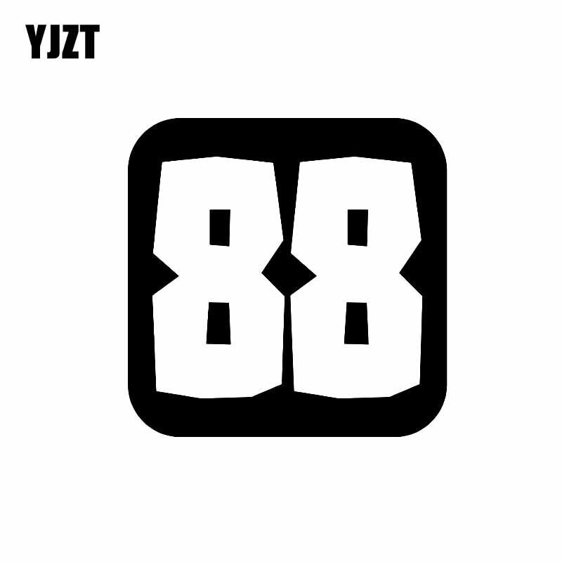 Yjzt 14cm 14cm Fashion Number 88 Vinyl Graphical Decor
