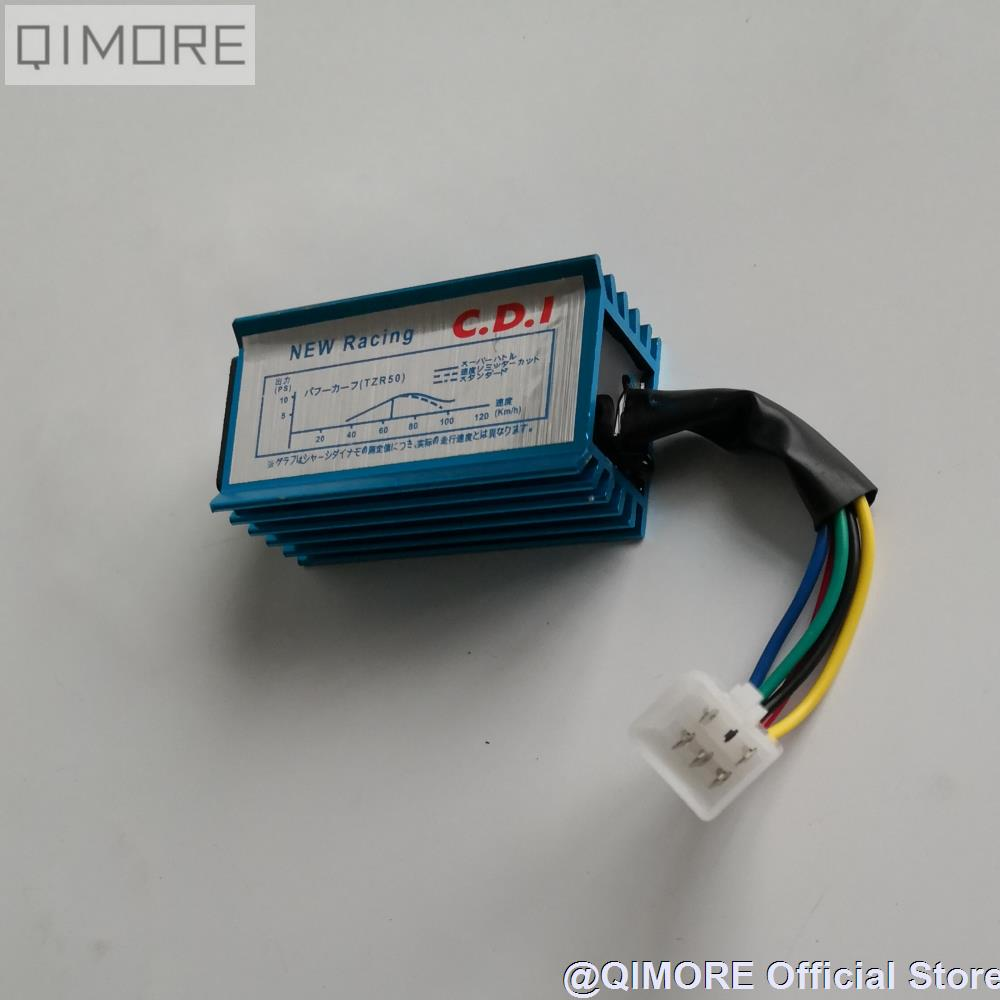 hight resolution of performance racing no rev limit 5 pin ac fired cdi for scooter moped dio 50