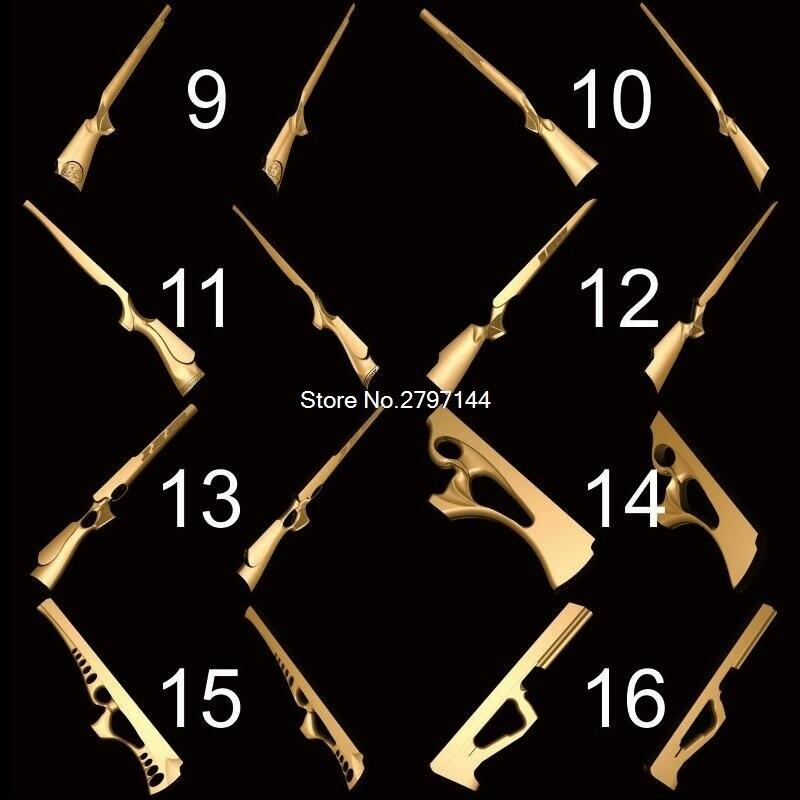 32 stücke für wählen gunstock 3D STL modell für geschnitzte abbildung cnc-maschine Router Stecher ArtCam Gun stock Modell design