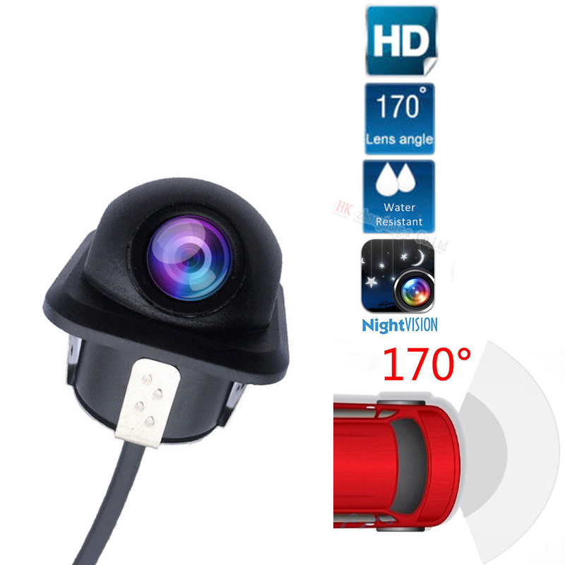 Waterproof Universal Rearview Backup Camera For Parking Safety Free Drill HD CCD Reverse View Camera Night View
