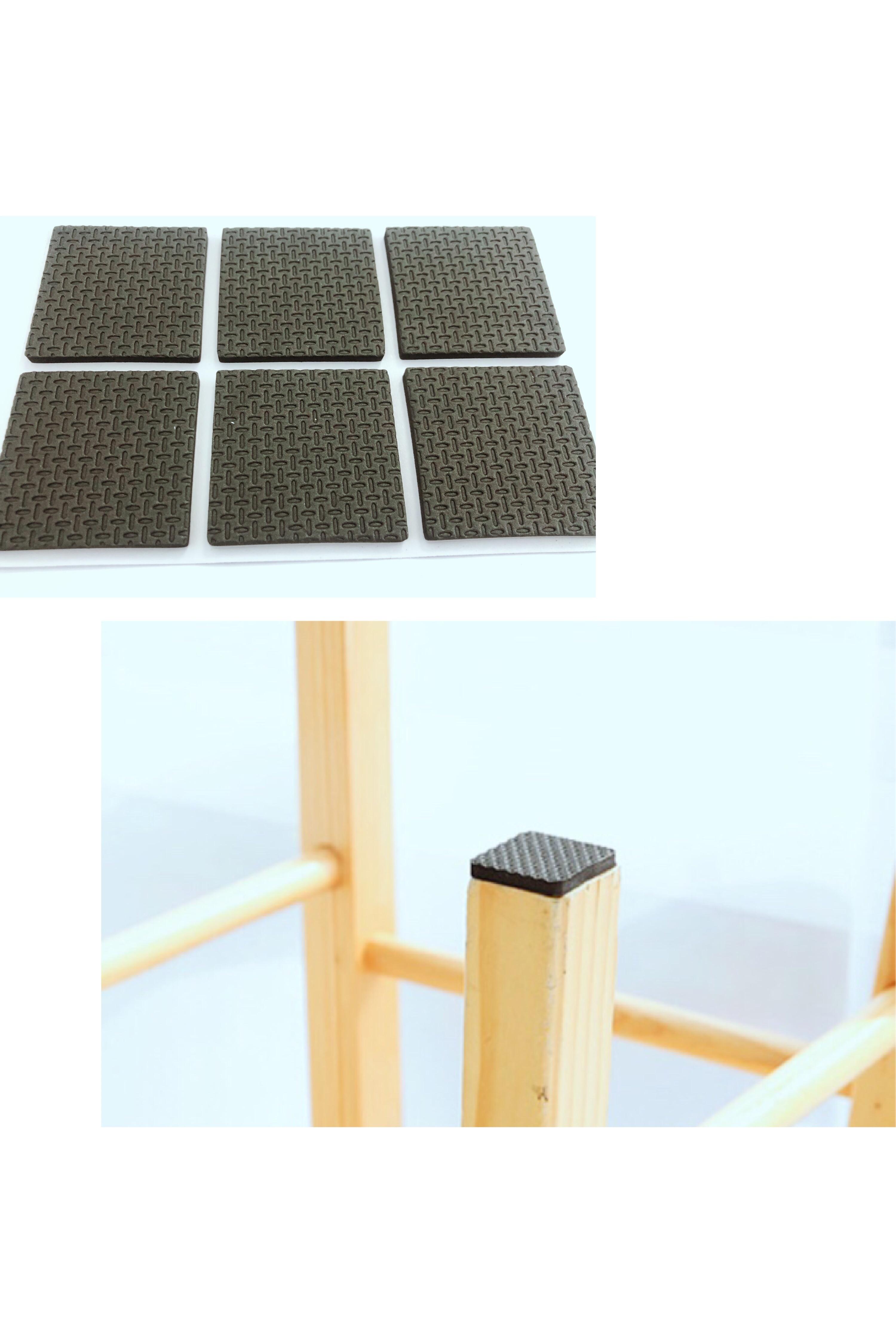 6PCS 12PCS Square Circle Self Adhesive Furniture Leg Feet Non Slip Rug Felt Pads Anti Slip Mat Soft Close Protect Tool Parts