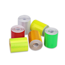 5 CM x 3 M Safety Mark Reflective Tape Sticker Car Styling Self Adhesive Warning Tape Automobile Motorcycle Reflective Strip 6 Colors