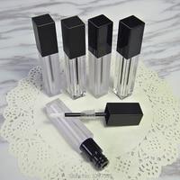 6ML 20pcs 50pcs Lot Clear Empty Plastic Lip Gloss Tube Frosted Square Liquid Lipstick Bottle Professional