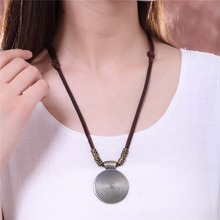 2018 Chokers Vintage Women Jewelry choker necklace colar Long Genuine Leather statement necklace Woman collier kolye collares