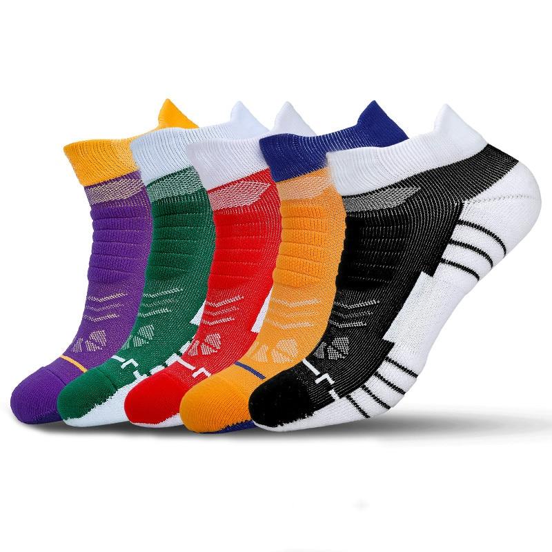 Brothock Basketball Socks Men Low Running Male Professional Towel Bottom Elite Deodorant Anti-skid Short Original Sports Socks