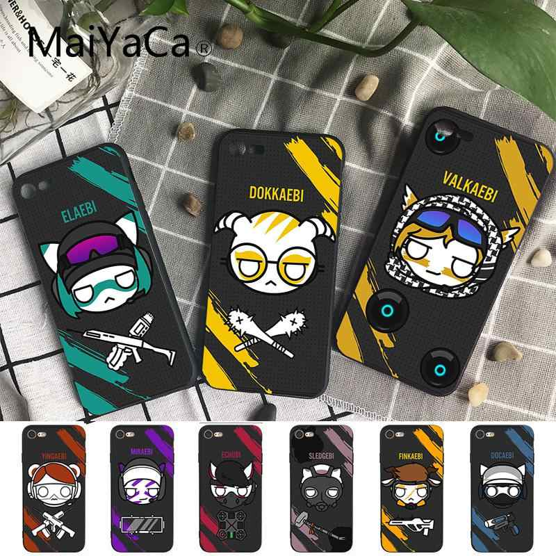 Maiyaca Rainbow Six Siege Coque Shell Phone Case for iPhone 8 7 6 6S Plus X XS MAX 5 5S SE XR Cover Fundas Capa