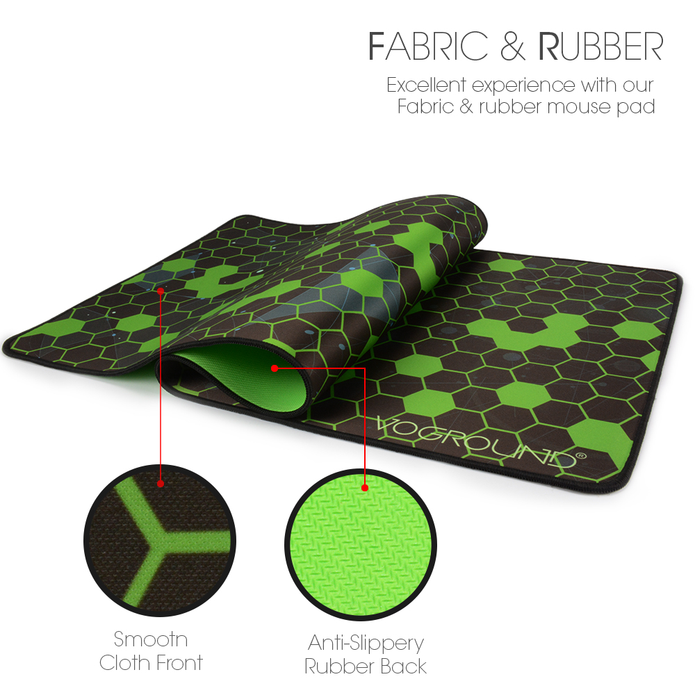 VOGROUND 3mm Magic Grid Natural Rubber Mouse Pad Locking