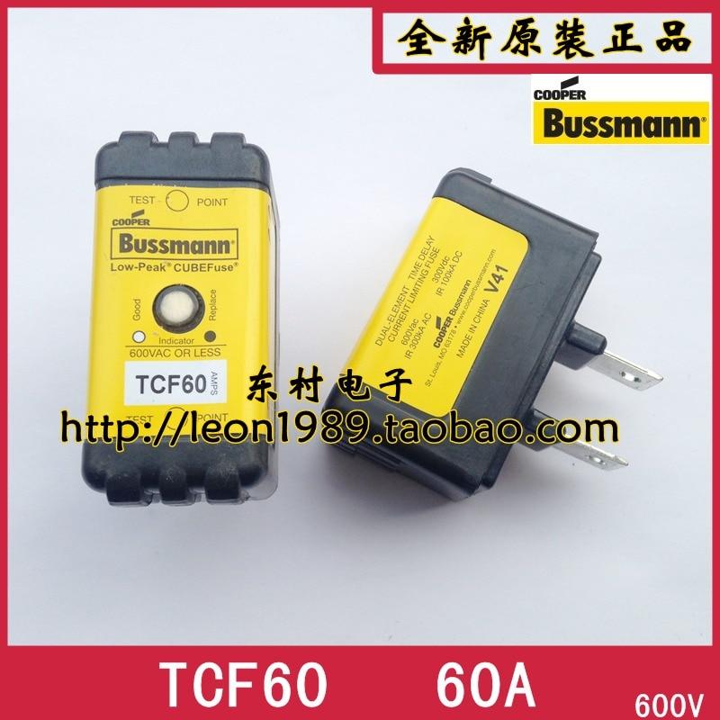 [SA]Eaton EATON Bussmann Fuses TCF60 60A 600V delayed fuse with instructions eaton maxwell okay andy