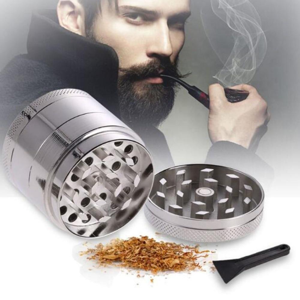 Alloy Herb Grinder Weed Grinder Tobacco Mini Grinder Cigarettes Smoke Crusher Hand Muller Super Shredder 4 Layers 3Color
