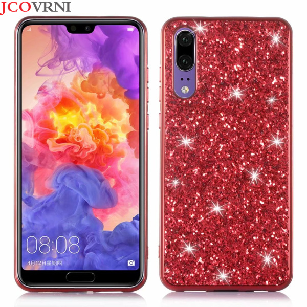 JCOVRNI Brillant glitter sequin téléphone cas pour Huawei P20 téléphone tpu flash Couverture Arrière pour Huawei P20 lite Pro téléphone cas Coque
