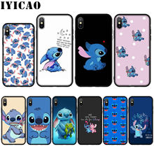 Cartoon Stich Silicone Soft Case for iPhone 11 Pro Max XR X XS Max 8 7 6 6S Plus 5 5S SE Cover(China)
