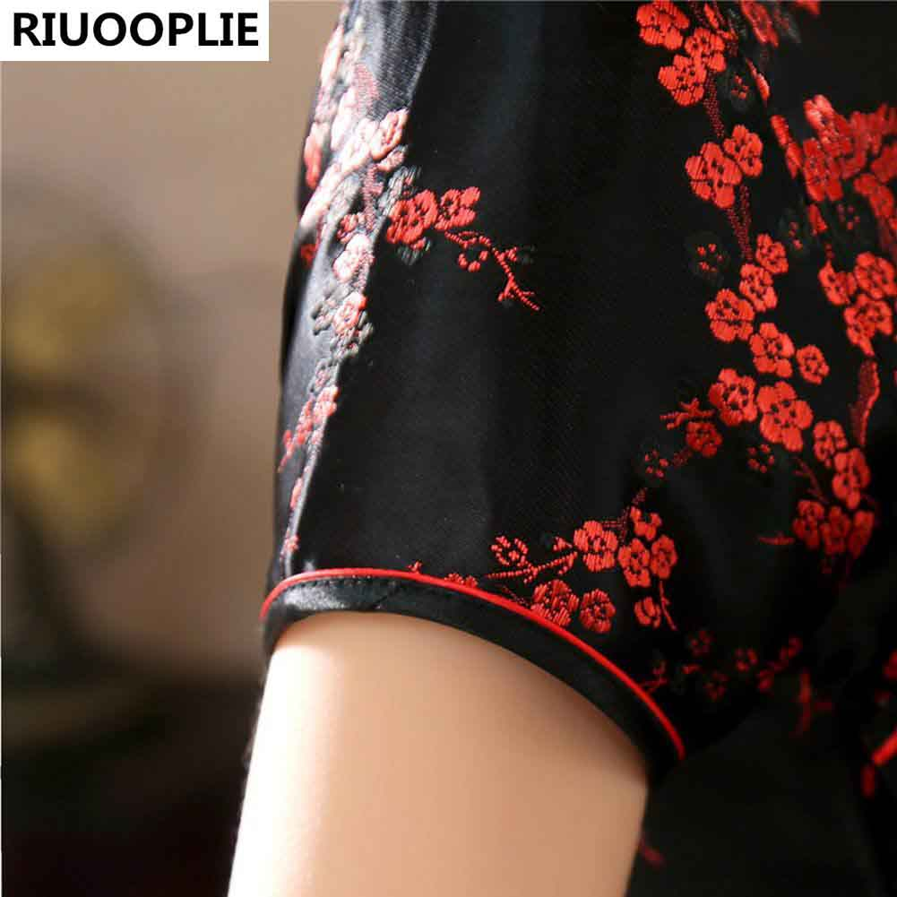 RIUOOPLIE Style Chinois Traditionnel Robe Femmes Long Cheongsam - Vêtements nationaux - Photo 6