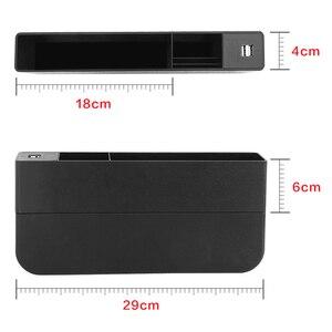 Image 5 - 車のフロントシート材オーガナイザー CE 認定 2 ポート USB 充電器携帯電話携帯ホルダーオートインテリアアクセサリー