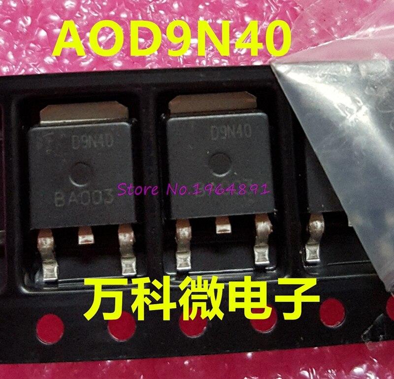 10pcs/lot AOD9N40 TO-252 D9N40 TO252 9N40 400V 8A In Stock