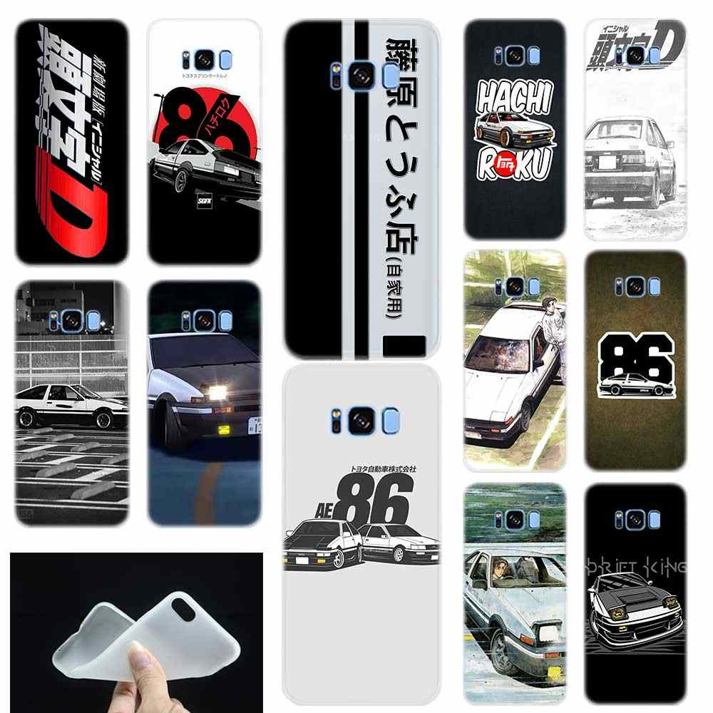 INITIAL D AE86 model Soft TPU Siliconen Phone Case Cover Voor Samsung Galaxy S6 S7 Rand S8 S9 S10 s11 Plus E Note 8 9 10Plus