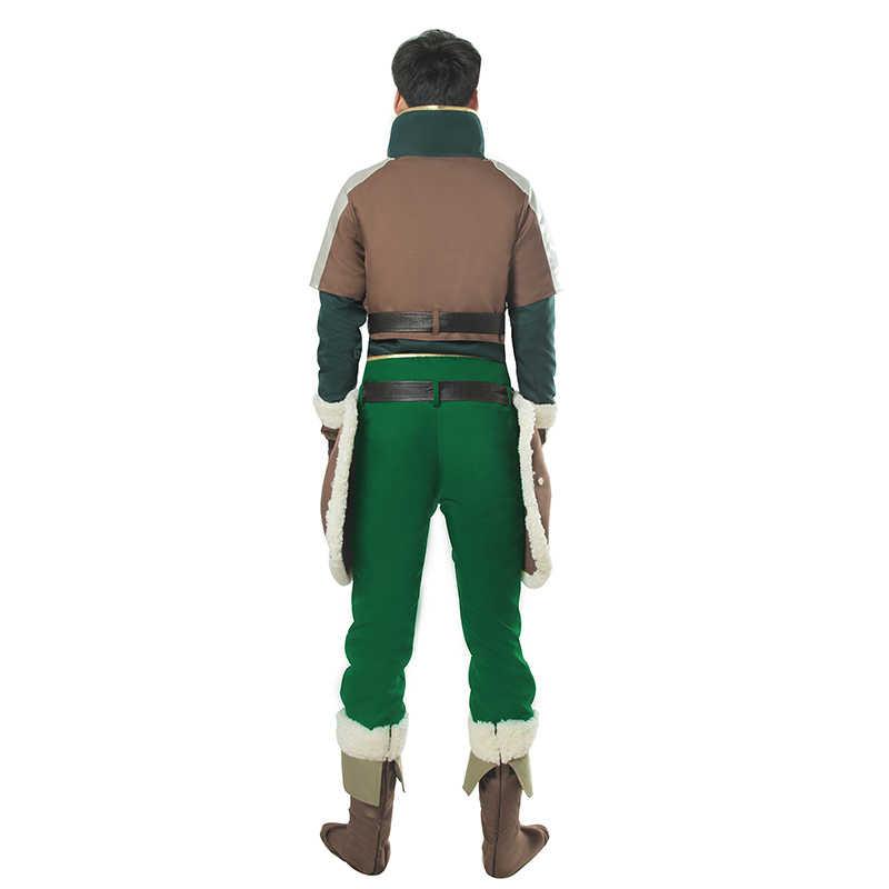 ROLECOS Anime Tate keine Yunnsha keine Nariagari Cosplay Kostüme Naofumi Iwatani Kostüme mit Grünen Mantel für Männer Kostüm Volle Sets