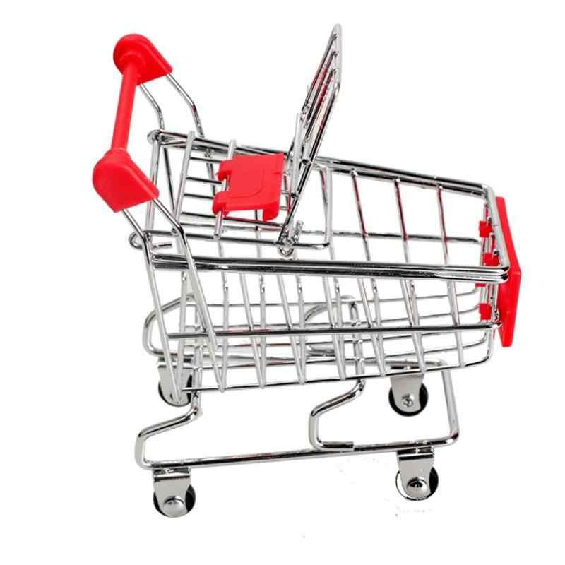 Childern لعب سوبر ماركت صغير عربة اليد تخزين الرف التسوق عربة خدمات وضع غرفة المعيشة أشتات حامل هاتف تخزين لعبة Co