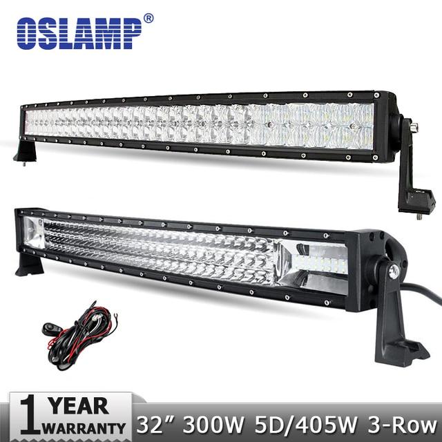 32 inch led light bar creepingthymefo oslamp 300w 5d 405w tri row 32inch led offroad light bar cree aloadofball Gallery