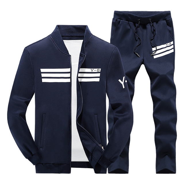 De los hombres ropa deportiva 2018 de la marca de lujo de los hombres de  Sportsuits 2f2bde961bea