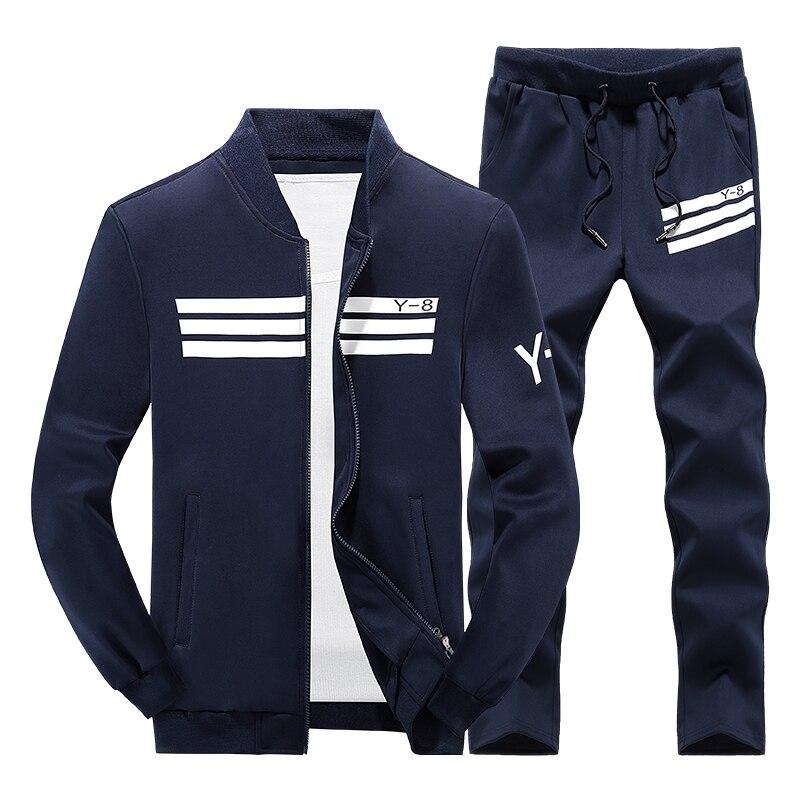 chaussures de séparation aad6e 269a8 € 21.08 49% de réduction Vêtements de sport pour hommes 2018 survêtement de  marque de luxe hommes vêtements de sport mode hiver pantalons de ...