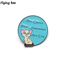Flyingbee Feminist Cat Enamel…
