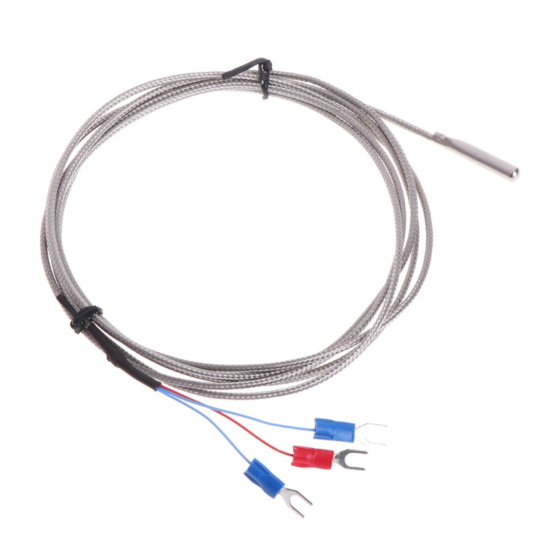 Stainless Steel RTD PT100 Temperature Sensor Thermocouple with 2m <font><b>3</b></font> Cable Wires image