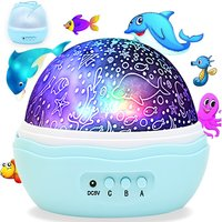 Colorful Undersea World, Baby Projector Rotating Night Lights, Best For Kid's Gift To Stimulate Curiosity and Imagination