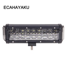 ECAHAYAKU Dual Sides Shooter 124w 10 inch 4 rows led work light bar 270 degree for jeep truck ATV UAZ 4x4 off road car styling