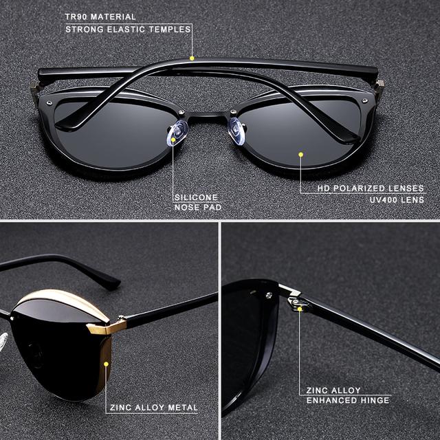 Gafas de sol ojos de gato vintage polarizadas