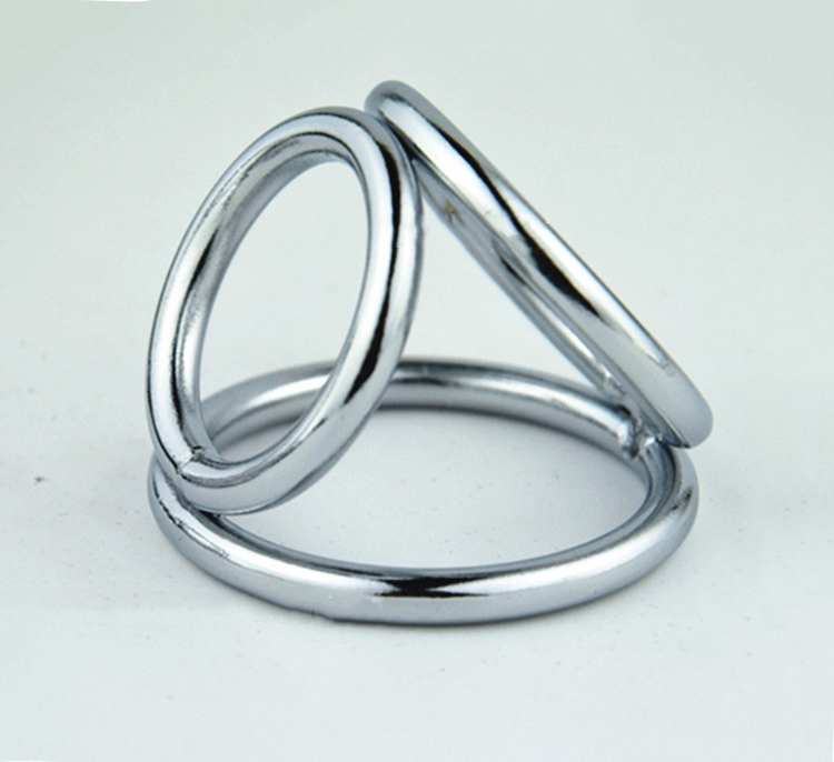 цены chastity lock 3 ring stainless steel Penile ring gay penis ring for men sleeve metal cock ring male