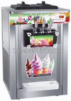 Stainless Steel,25 litres of vertical three color ice cream machine for commercial ice cream cone machine